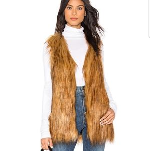 Unreal Fur Play Vest in Ginger Size M